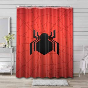 Spider-Man Far From Home Logo Shower Curtain Waterproof Polyester