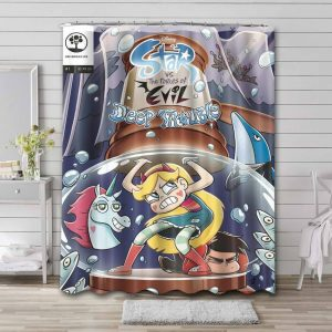 Star vs. the Forces of Evil Shower Curtain Bathroom Decoration