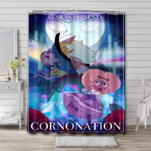 Star vs. the Forces of Evil Waterproof Shower Curtain Bathroom