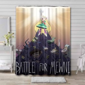Star vs. the Forces of Evil Bathroom Curtain Shower Waterproof