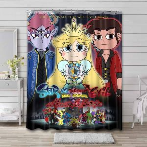 Star vs. the Forces of Evil Show Shower Curtain Waterproof Polyester