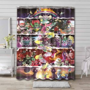 Star vs. the Forces of Evil Characters Waterproof Shower Curtain Bathroom