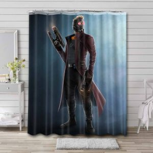 Star-Lord Avengers GOTG Shower Curtain Waterproof Polyester