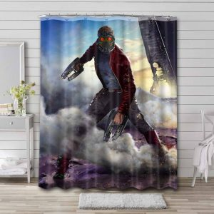 Star-Lord Guardian Of The Galaxy Shower Curtain Waterproof Polyester