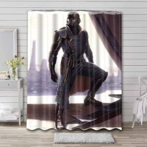 Star-Lord Artwork Shower Curtain Waterproof Polyester