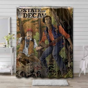 State of Decay Game Waterproof Bathroom Shower Curtain