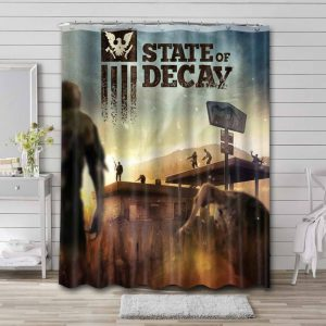 State of Decay Bathroom Curtain Shower Waterproof