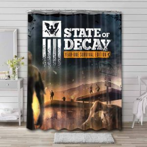 State of Decay Game Bathroom Curtain Shower Waterproof