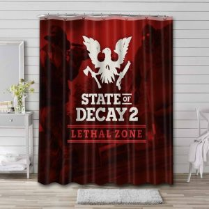State of Decay Game Waterproof Curtain Bathroom Shower