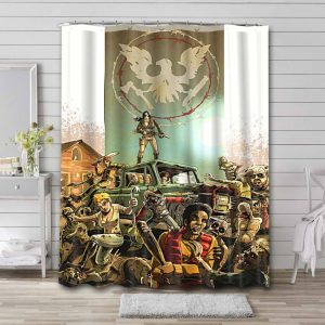 State of Decay Game Shower Curtain Bathroom Waterproof