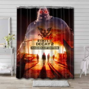 State of Decay Shower Curtain Bathroom Decoration