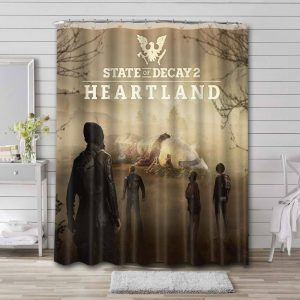 State of Decay Shower Curtain Waterproof Polyester