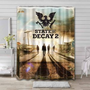 State of Decay Shower Curtain Bathroom Decoration Waterproof Polyester Fabric.