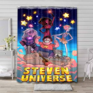 Steven Universe Characters Shower Curtain Waterproof Polyester