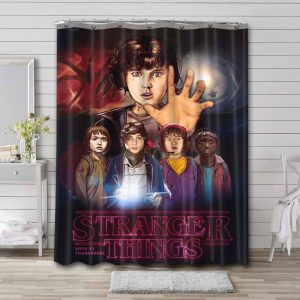 Stranger Things Shower Curtain Waterproof Polyester