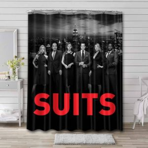 Suits Shower Curtain Waterproof Polyester