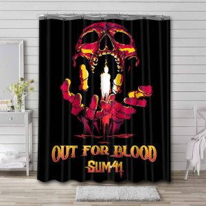 Sum 41 Out For Blood Waterproof Shower Curtain Bathroom