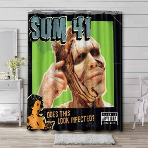 Sum 41 Does This Look Infected? Shower Curtain Waterproof Polyester