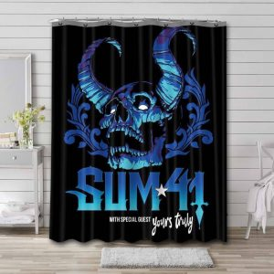Sum 41 Yours Truly Bathroom Shower Curtain Waterproof