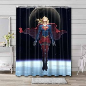 Supergirl Concept Shower Curtain Waterproof Polyester