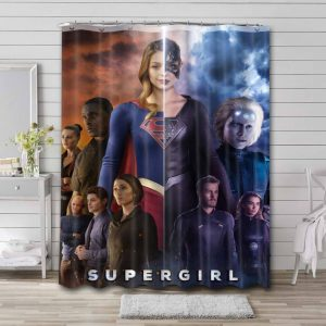 Supergirl Characters Series Shower Curtain Waterproof Polyester