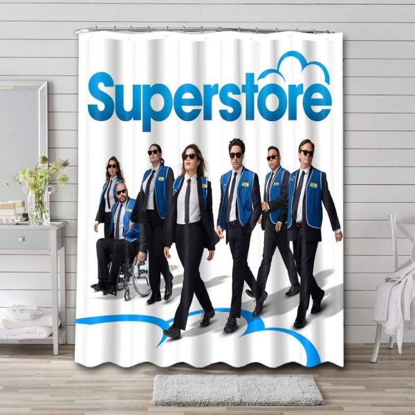 Superstore Shower Curtain Bathroom Decoration Waterproof Polyester Fabric.