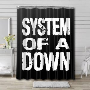 System of a Down Shower Curtain Bathroom Decoration
