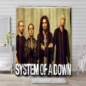 System of a Down Rock Band Bathroom Shower Curtain Waterproof