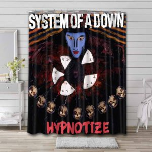 System of a Down Hypnotize Bathroom Curtain Shower Waterproof