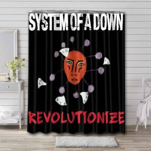 System of a Down Revolutionize Shower Curtain Waterproof Polyester