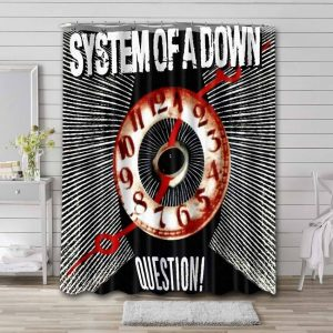 System of a Down Question Bathroom Shower Curtain Waterproof