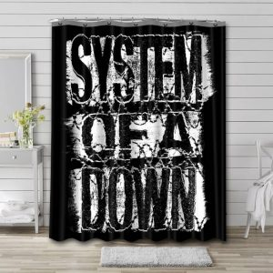 System of a Down Shower Curtain Waterproof Polyester