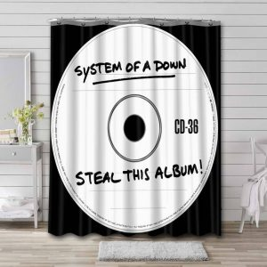 System of a Down Steal This Album! Waterproof Shower Curtain Bathroom