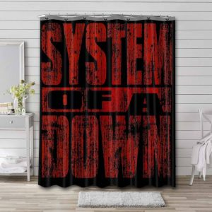 System of a Down Bathroom Shower Curtain Waterproof