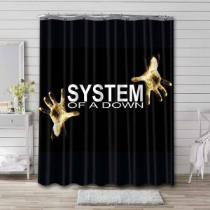 System of a Down 1998 Bathroom Curtain Shower Waterproof