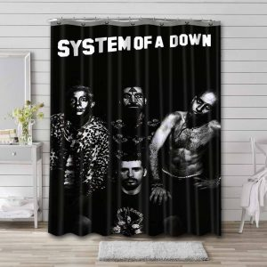 System of a Down Rock Band Shower Curtain Bathroom Waterproof