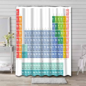 Periodic Table of the Elements Shower Curtain Waterproof Polyester
