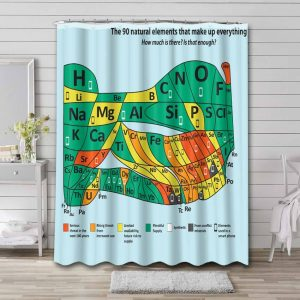Periodic Table of the Elements Unique Waterproof Curtain Bathroom Shower