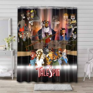 TaleSpin Characters Shower Curtain Bathroom Decoration