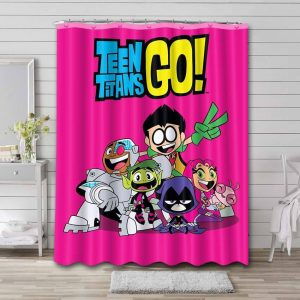 Teen Titans Go Shower Curtain Waterproof Polyester