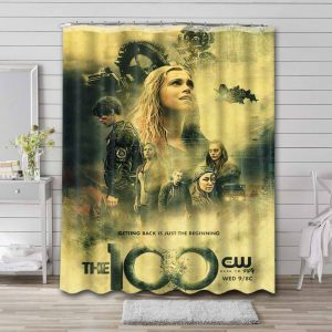 The 100 TV Series Shower Curtain Waterproof Polyester