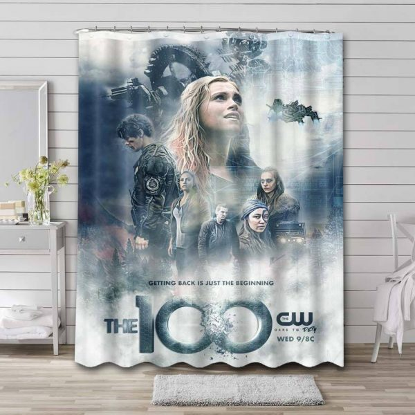 The 100 Shower Curtain Waterproof Polyester