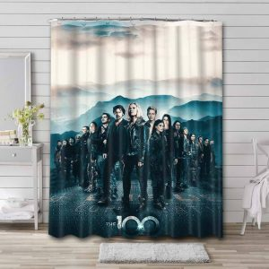 The 100 Shower Curtain Bathroom Decoration Waterproof Polyester Fabric.
