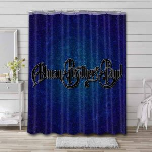 The Allman Brothers Band Rock Bathroom Curtain Shower Waterproof