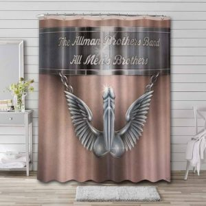 The Allman Brothers Band Rock All Men's Brothers Waterproof Curtain Bathroom Shower