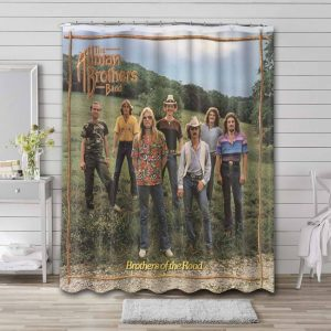 The Allman Brothers Band Rock Brothers Shower Curtain Bathroom Decoration