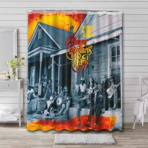 The Allman Brothers Band Rock Shades of Two Worlds Shower Curtain Waterproof Polyester