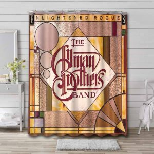 The Allman Brothers Band Rock Enlightened Rogues Bathroom Shower Curtain Waterproof