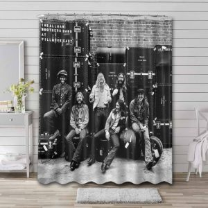 The Allman Brothers Band Rock At Fillmore East Bathroom Curtain Shower Waterproof