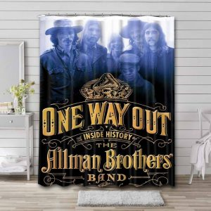 The Allman Brothers Band Rock One Way Out Waterproof Curtain Bathroom Shower